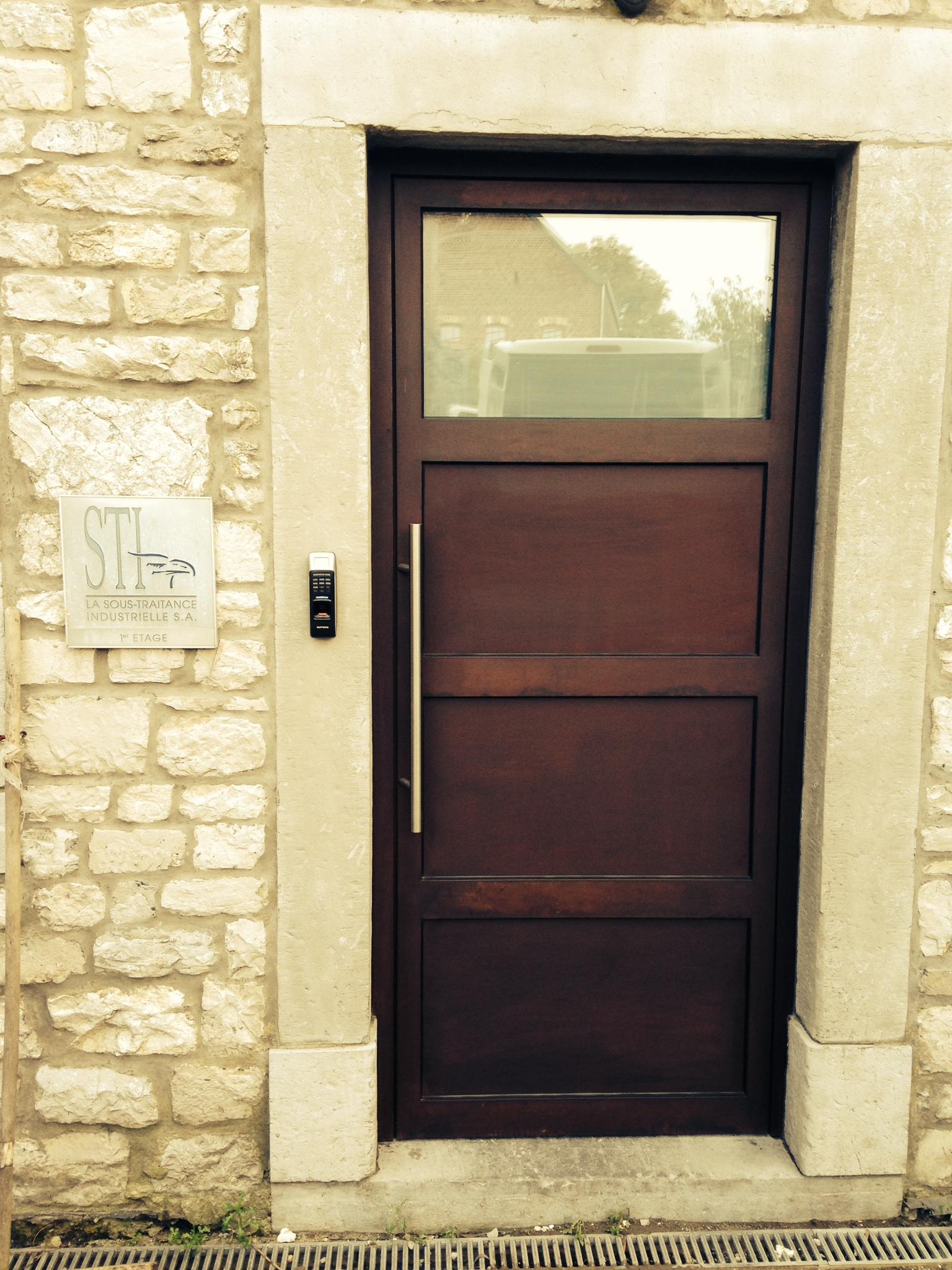 Porte anti effraction Cor-ten