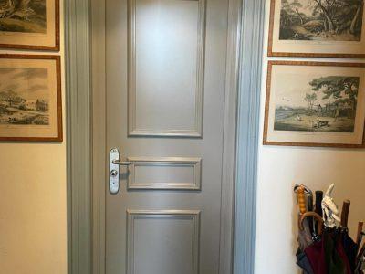 Porte FICHET Sphéris grise + moulures