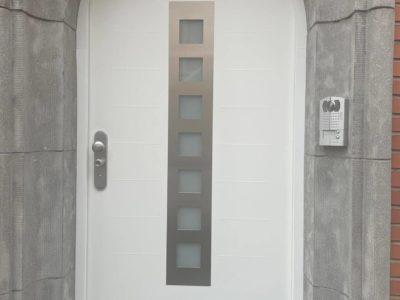 Porte FICHET Styléa blanche extérieur