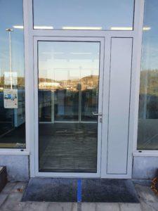Porte d'entrée d'immeuble en acier – Droixhe 2