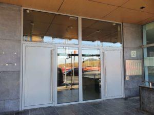 Porte d'entrée d'immeuble en acier – Droixhe
